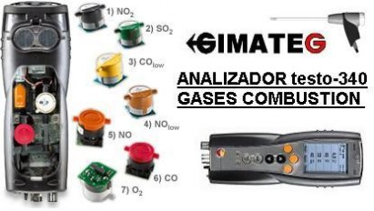 analizador gases combustion bluetooth testo venta alquiler gimateg