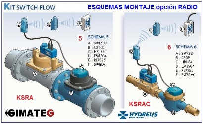montajes switch flow anti fugas agua hydrelis gimateg